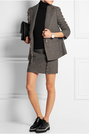 Checked wool-tweed blazer