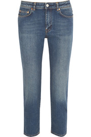 Row cropped mid-rise straight-leg jeans