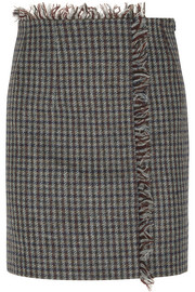 Acne Studios Checked wool-tweed mini skirt
