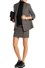 Checked wool-tweed mini skirt