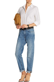 Boy faded mid-rise boyfriend jeans