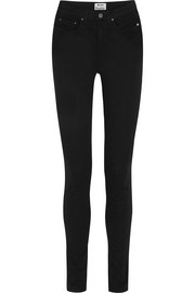 Pin Black high-rise skinny jeans