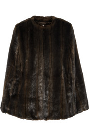 Faux fur cape
