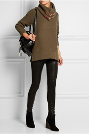 Buckled cotton-blend sweater