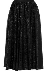 Sequined tulle midi skirt