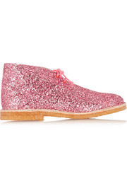 Delilah glitter-finished leather desert boots