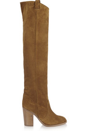 Silas suede over-the-knee boots
