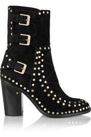 Gehry studded suede ankle boots