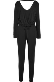 Depth wrap-effect stretch-jersey jumpsuit