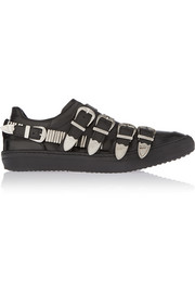 Toga Pulla buckled leather sneakers