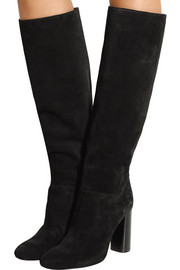 Suede knee boots