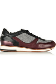 Lanvin Leather and felt sneakers