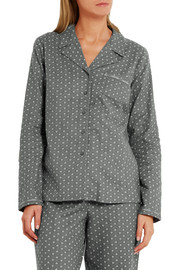 Calvin Klein Underwear Printed cotton-flannel pajama shirt