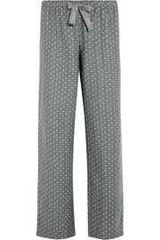 Printed cotton-flannel pajama pants