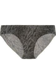 Perfectly Fit snake-print stretch-satin briefs