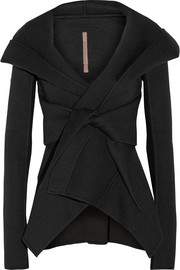 Rick Owens Lilies neoprene hooded jacket