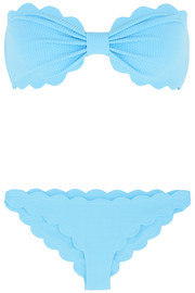 Marysia Antibes scalloped bandeau bikini