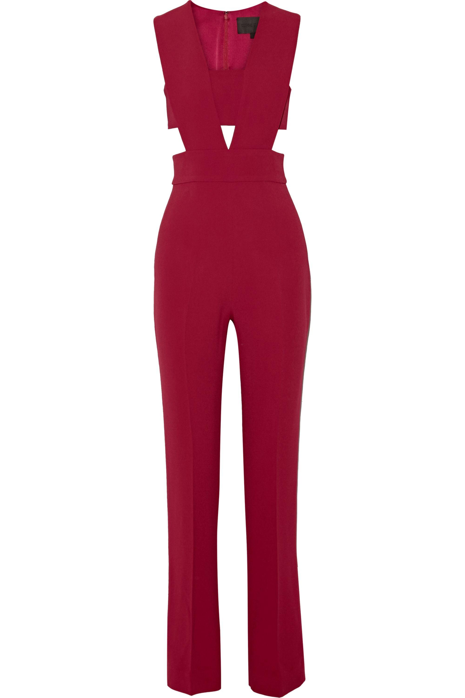 Cushnie Stretch-cady bandeau jumpsuit