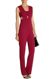 Stretch-cady bandeau jumpsuit