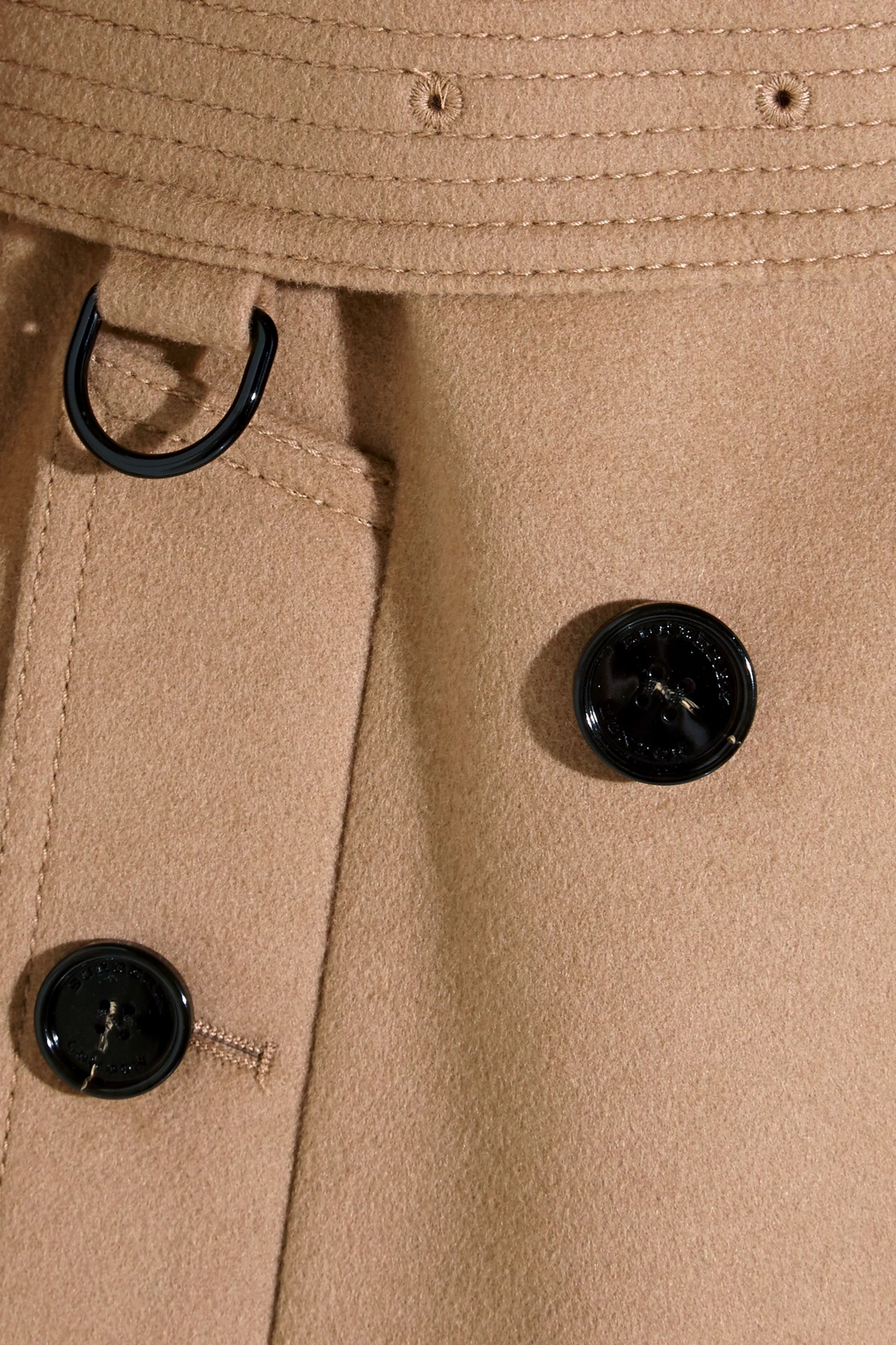 Burberry The Kensington Mid wool and cashmere-blend felt trench coat