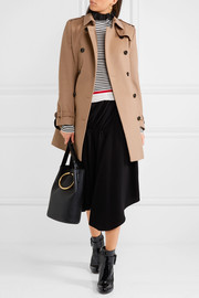 The Kensington Mid wool and cashmere-blend felt trench coat