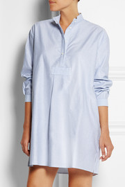 Striped cotton Oxford nightshirt