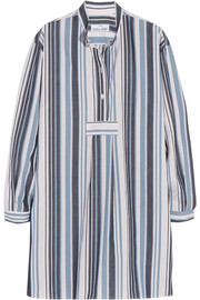The Sleep Shirt Striped cotton Oxford nightshirt