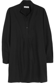 The Sleep Shirt Cotton and cashmere-blend twill nightshirt