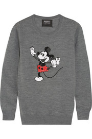 + Disney� Dancing Vintage Mickey sequined merino wool sweater