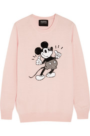 + Disney� Thumbs Up Vintage Mickey sequined merino wool sweater