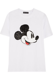 + Disney� Vintage Mickey sequined cotton T-shirt