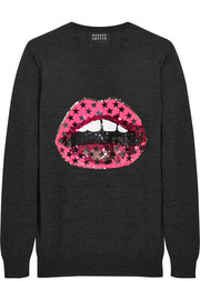 Lara Lip sequined merino wool sweater