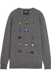 Natalie crystal-embellished merino wool sweater