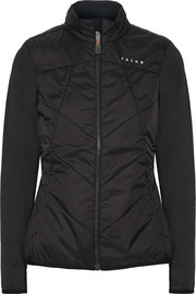 Hybrid quilted shell and stretch-jersey jacket