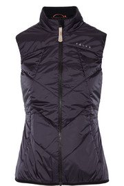 Stretch jersey-paneled quilted shell vest