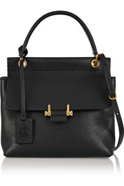 Lanvin Small textured-leather tote