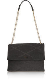 Sugar medium quilted suede shoulder bag