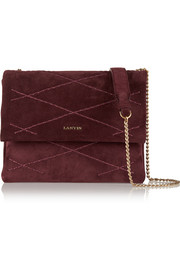 Lanvin Sugar mini quilted suede shoulder bag