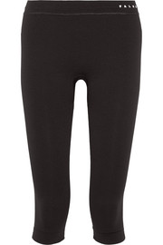Cropped stretch-jersey leggings