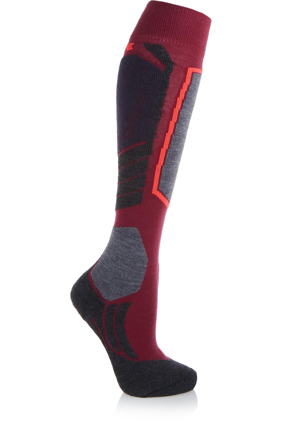 SK2 Knitted Socks, FALKE Ergonomic Sport System, Plum, Women's, Size: 39-40
