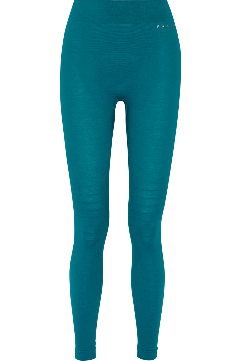 Stretch Wool-Blend Jersey Leggings, FALKE Ergonomic Sport System, Turquoise, Women's