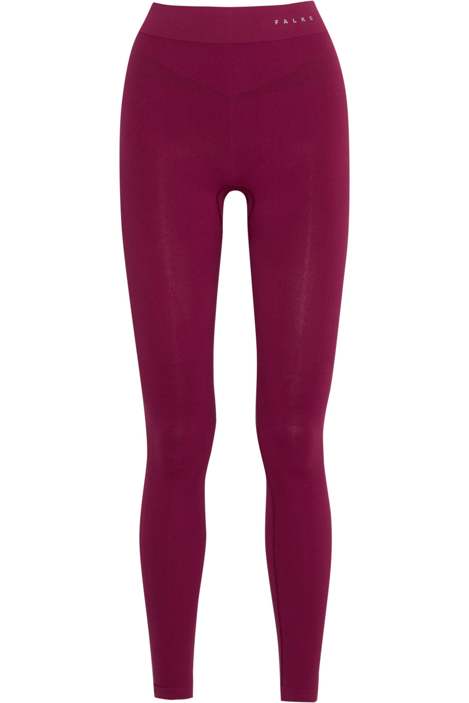 Stretch-Jersey Leggings, FALKE Ergonomic Sport System, Plum, Women's