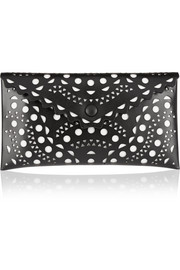 Vienne laser-cut leather pouch