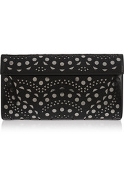 Vienne Wave laser-cut leather clutch