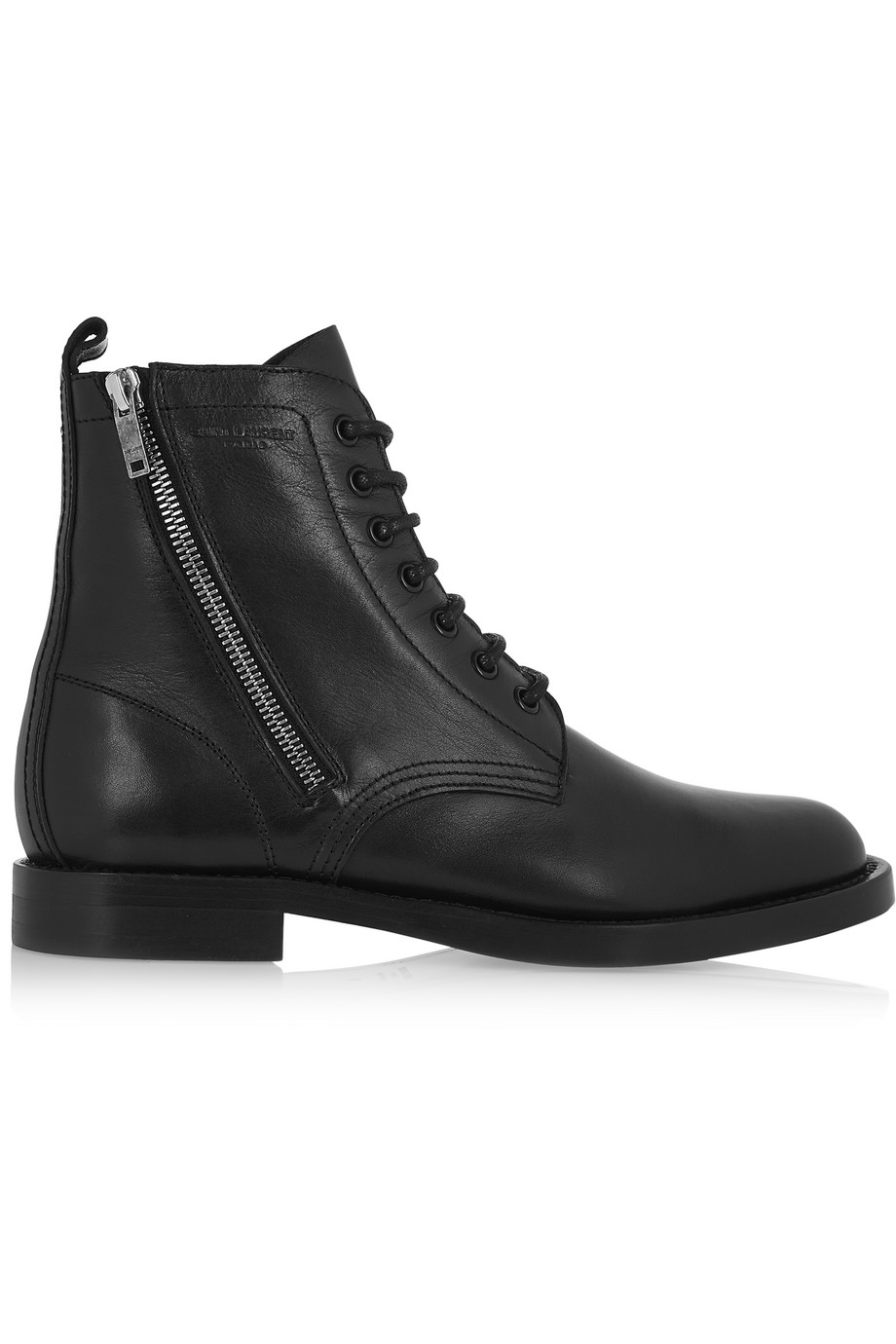 Saint Laurent Ranger Leather Boots, Black, Women's US Size: 3.5, Size: 34