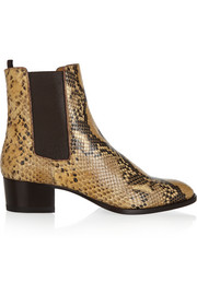 Saint Laurent Blake python-effect leather ankle boots