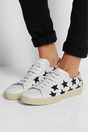 Saint Laurent Court Classic star-appliquéd leather sneakers