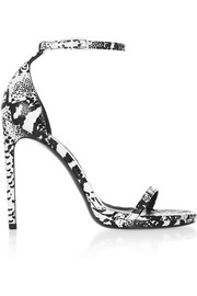 Saint Laurent Jane lizard-effect leather sandals