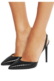 Saint Laurent Lizard-effect leather pumps