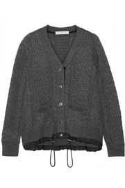 Sacai Luck cable-knit wool cardigan